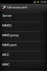 Sony ST21i Xperia Tipo - MMS - Manual configuration - Step 10