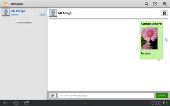 Samsung P7500 Galaxy Tab 10-1 - Mensajería - Escribir y enviar un mensaje multimedia - Paso 14
