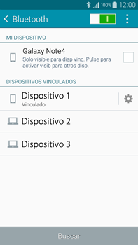 Samsung N910F Galaxy Note 4 - Bluetooth - Conectar dispositivos a través de Bluetooth - Paso 8