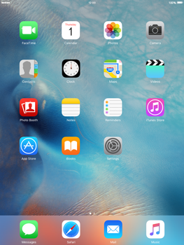 Apple iPad Air 2 iOS 9 - WiFi and Bluetooth - Manual configuration - Step 1