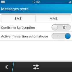 BlackBerry Q5 - SMS - configuration manuelle - Étape 6