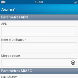 BlackBerry Q5 - MMS - configuration manuelle - Étape 9