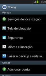 Samsung I8190 Galaxy S III Mini - Funções básicas - Como restaurar as configurações originais do seu aparelho - Etapa 4