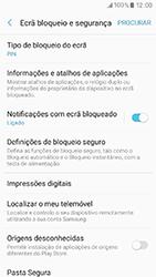 Samsung Galaxy A3 (2017) - Segurança - Como ativar o código de bloqueio do ecrã -  13