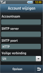 Samsung S8000 Jet - E-mail - handmatig instellen - Stap 8