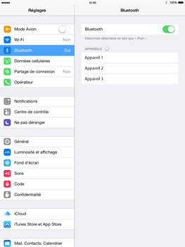 Apple iPad Air iOS 8 - Bluetooth - connexion Bluetooth - Étape 7