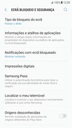 Samsung Galaxy S7 Edge - Android Nougat - Segurança - Como ativar o código de bloqueio do ecrã -  5