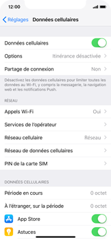 Apple iPhone X - iOS 12 - Internet - activer ou désactiver - Étape 4