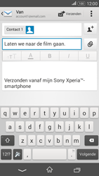 Sony Xperia E4g (E2003) - E-mail - Bericht met attachment versturen - Stap 9