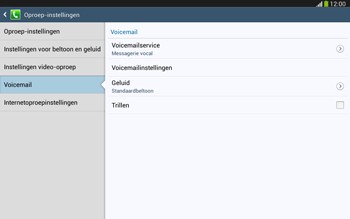 Samsung P5220 Galaxy Tab 3 10-1 LTE - Voicemail - Handmatig instellen - Stap 7