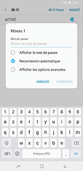 Samsung Galaxy Note 8 - Wi-Fi - Accéder au réseau Wi-Fi - Étape 8