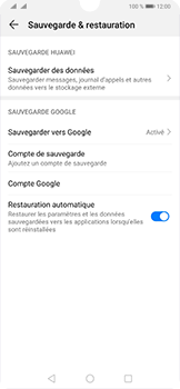 Huawei P30 - Données - créer une sauvegarde avec votre compte - Étape 8