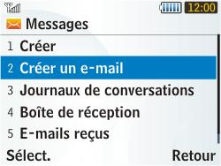 Samsung S3350 Chat 335 - E-mail - envoyer un e-mail - Étape 3
