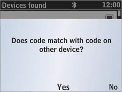 Nokia Asha 302 - Bluetooth - Pair with another device - Step 9
