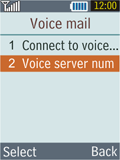 Samsung B2100 Xplorer - Voicemail - Manual configuration - Step 6
