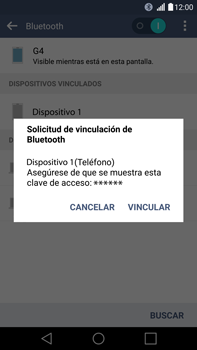 LG G4 - Bluetooth - Conectar dispositivos a través de Bluetooth - Paso 7