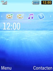 Samsung S5610 Primo - Voicemail - handmatig instellen - Stap 1