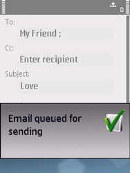 Nokia E75 - Email - Sending an email message - Step 13
