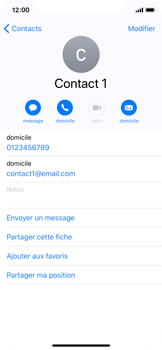 Apple iPhone X - Contact, Appels, SMS/MMS - Ajouter un contact - Étape 12