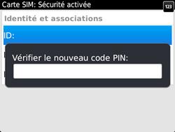BlackBerry 9720 - Sécuriser votre mobile - Personnaliser le code PIN de votre carte SIM - Étape 11