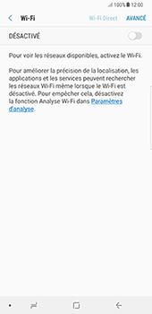 Samsung Galaxy Note 8 - Wi-Fi - Accéder au réseau Wi-Fi - Étape 6