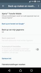 Sony Xperia XA - Android Nougat - Instellingen aanpassen - Fabrieksinstellingen terugzetten - Stap 5