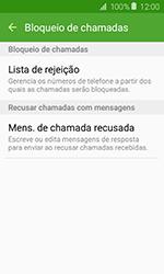 Samsung Galaxy J1 - Chamadas - Como bloquear chamadas de um número específico - Etapa 7