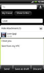 HTC S510e Desire S - E-mail - Sending emails - Step 11