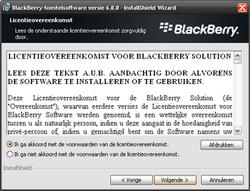 BlackBerry 9800 Torch - Software - Update installeren via PC - Stap 11
