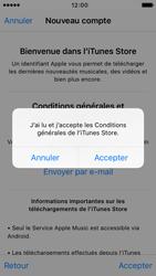 Apple iPhone 5s iOS 9 - Applications - Créer un compte - Étape 11