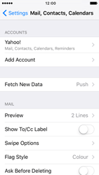 Apple iPhone 5 iOS 9 - E-mail - Manual configuration (yahoo) - Step 9