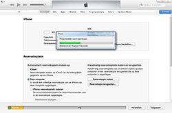 Apple iPhone 3G - Software - Back-up maken of terugplaatsen - Stap 7