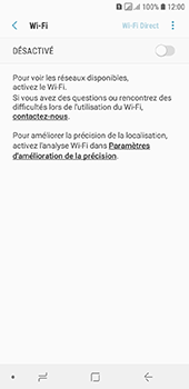 Samsung Galaxy A6 - Wifi - configuration manuelle - Étape 5