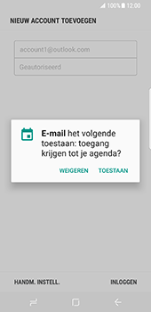 Samsung Galaxy S8 - E-mail - handmatig instellen (outlook) - Stap 11