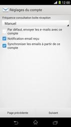 Sony Xpéria Z1 - E-mails - Ajouter ou modifier un compte e-mail - Étape 17