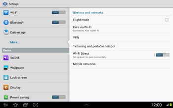 Samsung P5100 Galaxy Tab 2 10-1 - Network - Usage across the border - Step 5
