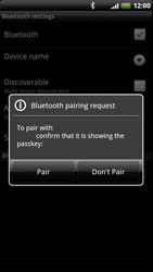 HTC Z715e Sensation XE - Bluetooth - Pair with another device - Step 8