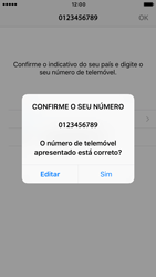 Apple iPhone 6s iOS 10 - Aplicações - Como configurar o WhatsApp -  10