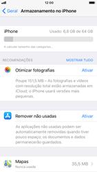 Apple iPhone 8 - Gestão de espaço - Gestão automática de aplicações não utilizadas -  5