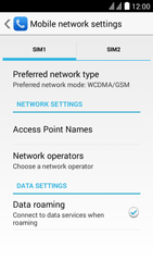 Huawei Ascend Y625 - Internet - Usage across the border - Step 4