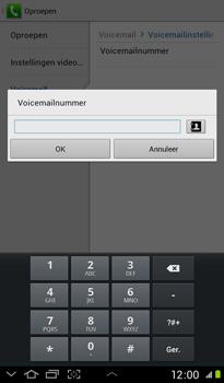Samsung P3100 Galaxy Tab 2 7-0 - Voicemail - handmatig instellen - Stap 8
