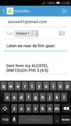 Alcatel OneTouch PIXI 3 (4.5) 3G (OT-4027X) - E-mail - Hoe te versturen - Stap 9