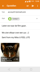 Wiko U-Feel Lite - E-mail - Hoe te versturen - Stap 15
