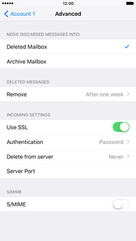 Apple iPhone 6 Plus iOS 9 - E-mail - Manual configuration POP3 with SMTP verification - Step 23