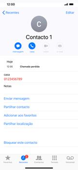 Apple iPhone XR - Chamadas - Como bloquear chamadas de um número -  5