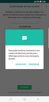Samsung Galaxy S8 Plus - Aplicações - Como configurar o WhatsApp -  11