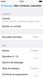 Apple iPhone 5 iOS 8 - E-mail - 032c. Email wizard - Outlook - Étape 9