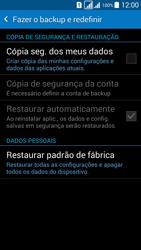 Samsung G530FZ Galaxy Grand Prime - Funções básicas - Como restaurar as configurações originais do seu aparelho - Etapa 7