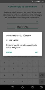 Huawei P Smart - Aplicações - Como configurar o WhatsApp -  10