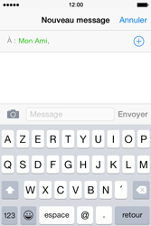 Apple iPhone 4S (iOS 8) - Contact, Appels, SMS/MMS - Envoyer un SMS - Étape 7